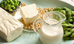 Soy is full of protein.