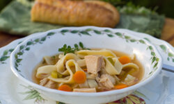 Turkey noodles soup can do a body good.