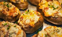 Twice baked potatoes are twice as good.