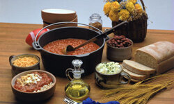 A big batch of chili (or spaghetti or lasagna) can be enjoyed for some time.