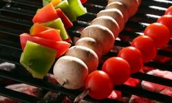 Cherry tomatoes are great for grilling.