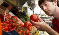 Beautifully cut tomatoes start with a beautiful whole fruit.