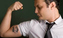 Flashing new ink at work can effectively grab co-workers' attention.