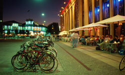 Bicycling is extremely popular in Copenhagen.