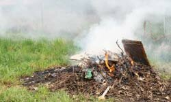 Blazing yard waste can get out of hand in a hurry, especially if conditions are particularly hot, dry and windy.