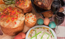 Kulich is one of many Easter treats in Russia.