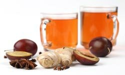 If plain ginger tea is too strong for you, try blending it with a fruit like plum.