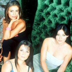 "Shannen Doherty, Holly Marie Combs and Alyssa Milano star in ""Charmed."""