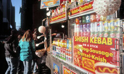 Skip the tourist food clustered near popular attractions.