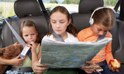 Navigation duties will keep kids busy (and help you make sure you don't miss that left turn at Albuquerque).