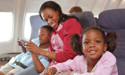 Keep a few kid-friendly games, books or comics on your smartphone (in addition to good old pencils and paper in your suitcase) for emergency entertainment.