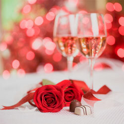 A romantic meal set by a romantic centerpiece can be a highlight of Valentine's Day.