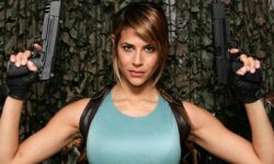Karima Adebibe as Lara Croft, Tomb Raider.