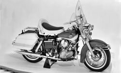 The first Harley-Davidson Electra Glide motorcycle was introduced in 1965.