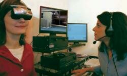 Using virtual therapy to treat a patient's fear of flying.