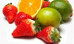 Oranges, strawberries, and limes; all naturally high sources of vitamin C.