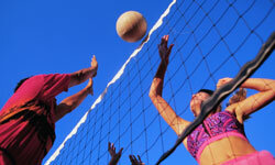 Want to mix things up a little bit with your volleyball net? See more sports pictures.