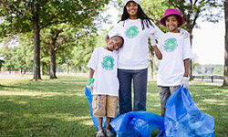 Volunteering as a family helps children learn about service and compassion for others.