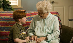 Kids can bring happiness to the elderly by visiting a retirement home.