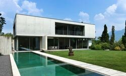 Concrete can be beautiful as well as fire-resistant. See more home design pictures.