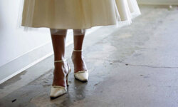 Don't wait until the big day to loosen up your shoes.