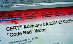 The CERT Coordination Center at Carnegie-Mellon university published an advisory alerting the public to the dangers of the Code Red virus.