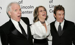 Steve Martin, Diane Keaton and Martin Short reunite at the Film Society of Lincoln Center's Annual Gala Tribute to honor Keaton in 2007.