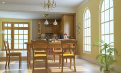 When choosing colors, consider the effects that natural light will have on the room.