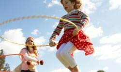 A hula-hoop challenge may result in uncontrollable giggling.