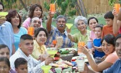 Host your reunion in a park and avoid the stress of finding enough space and entertainment in your home.