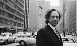 Portrait of American author Alvin Toffler