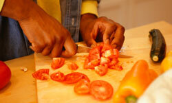 Chop up your own veggies rather than buying them precut.