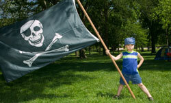 Have each of your mini-pirates make a pirate flag.
