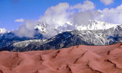 You'll find North America's tallest dunes in Colorado. You'll also find a breathtaking landscape in which you can camp in the wintertime.
