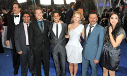 "The cast from NBC's ""Outsourced"" at the 2011 People's Choice Awards in Los Angeles."