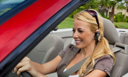 If you absolutely can't miss a call while you're behind the wheel, a Bluetooth headset is a must, but don't let the conversation distract you.