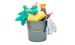 Before your tackle your house cleaning, know what chemicals you're using that could potentially irritate or damage your skin.