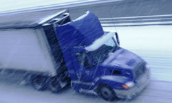 Driving any vehicle across ice is scary. Hauling heavy loads through these conditions? Terrifying.