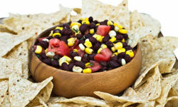 Many people prefer black bean salsa to the tomato-based kind.
