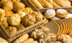 Today's fresh baked goods are tomorrow's day-old bread -- try to get that deal a day early!