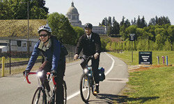 Your commute to work can turn into an Earth Day celebration if you're biking.