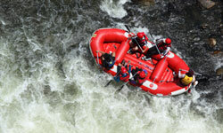 White-water rafting can be dangerous, but it's also exhilarating. See more pictures of extreme sports.