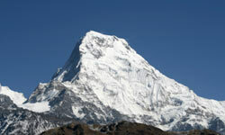 Annapurna is another massive peak in the Nepalese Himalayas.