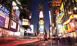 It's tough to take a panoramic shot of a place like Times Square because it's always changing.