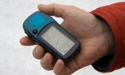 Geocaching is a new-tech camping game that uses a GPS.