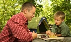 This might be a great time to introduce your son to chess.