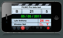 FiLMiC Pro's virtual slate doesn't just look cute -- it lets film makers add meta data to their shots.