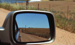 Your side view mirror could save your life in case of an accident.