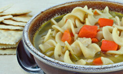 Chicken noodle soup isn't just for when you're sick; enjoy it all winter.