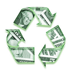 Recycling will save you moolah.